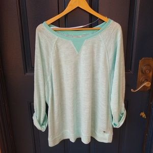 Calvin Klein   performance dry rolled sleeve top